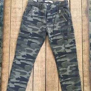 Pants - Mavi Juliette mid rise skinny camo cargo jeans